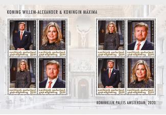 nieuwe postzegels koning willem alexander