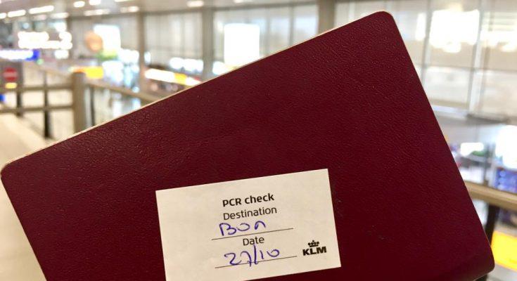 Toch géén PCR-test bij vertrek vanaf Bonaire