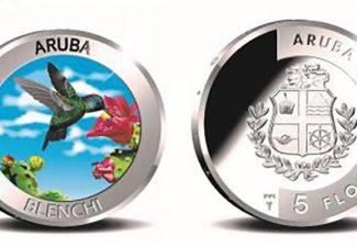 De Centrale Bank van Aruba geeft nieuwe herdenkingsmunt uit van vijf florin
