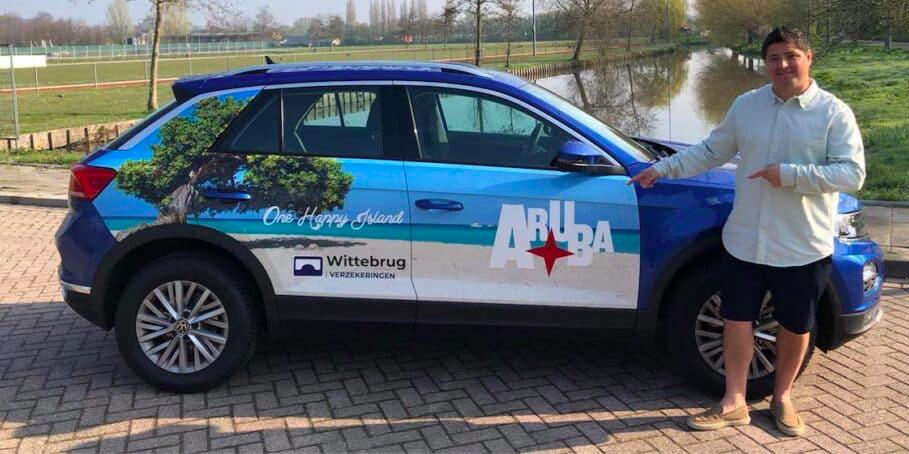 Aruba-branded rijden door Nederland