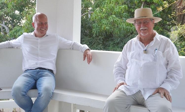 Staatssecretaris Knops arriveert op Saba