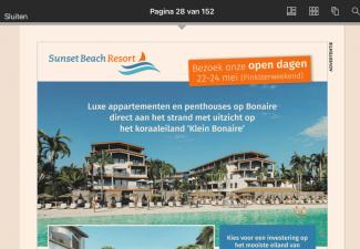 Bestuurscollege Bonaire muisstil over Sunset Beach Resort