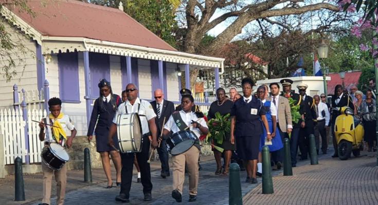 Stemmige dodenherdenking op St. Eustatius