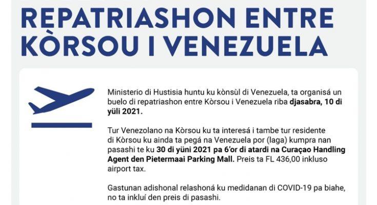 Overheid Curaçao chartert opnieuw vliegtuig naar Caracas