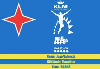 Juan Valencia wint KLM Marathon Aruba