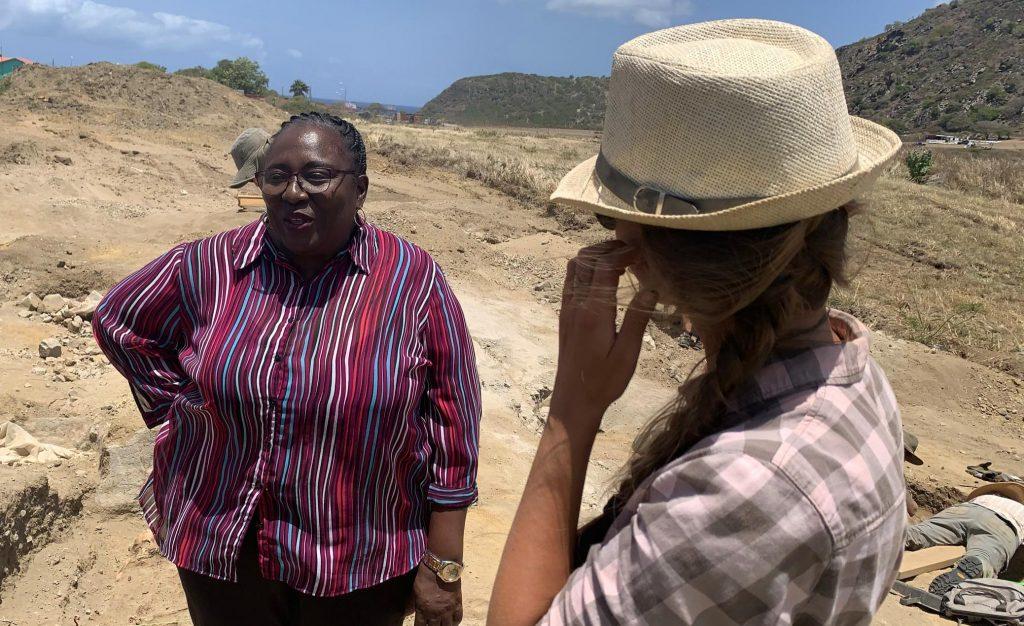 Statia legt opgraving slavengraven stil