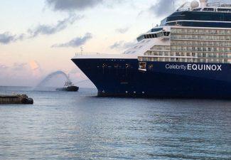 Eerste cruiseschip Equinox via Aruba en Curaçao op Bonaire aangekomen