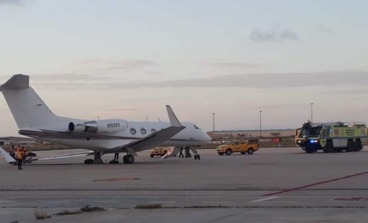 Vliegtuig zakt door landingsgestel op luchthaven van Aruba